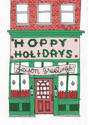 north pole store fronts, box of 8