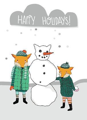 happy holiday snowmen, box of 8
