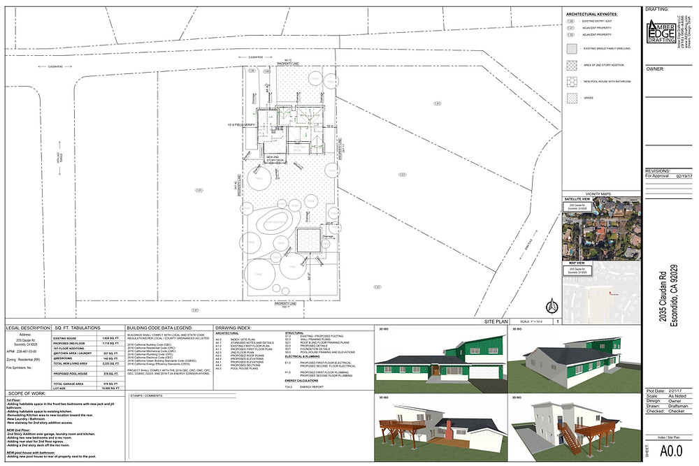 Site plan, plot plan, starting point of new project, remodels, additions, sacramento ca, drafting services