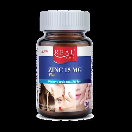 Real Elixir Zinc 15 MG. ขนาด 60 เม็ด