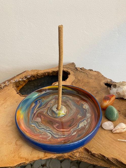 Seramik Tütsülük - Kozmos Toprak/Mavi