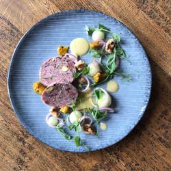 Ham hock and pistachio terrine