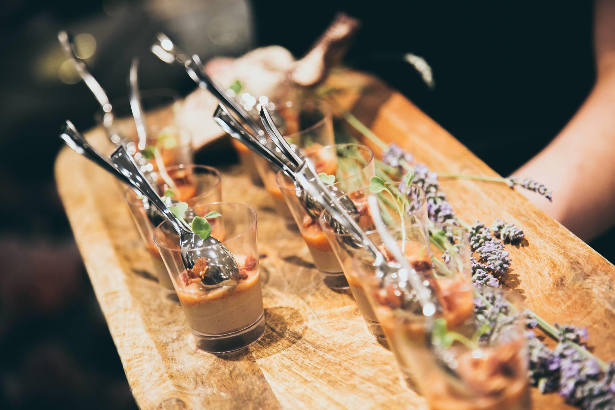 Foie gras parfait quince jelly bacon