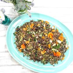Wild rice, pistachio and apricot salad