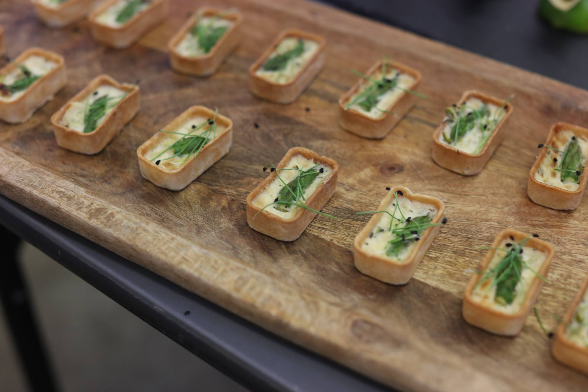 Mini leek and asparagus tarts