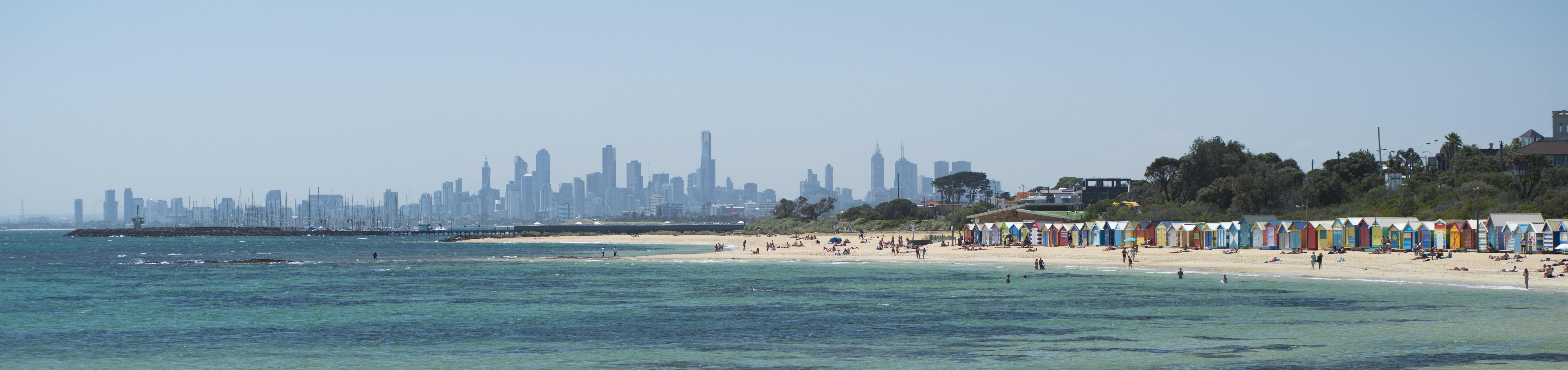 Melbourne skyline, Victoria.