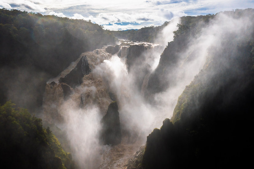 Prints   Waterfalls   Din Din (Barron Falls alive - a)
