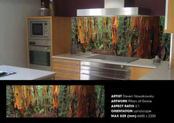 Happy customer - kitchen splash back