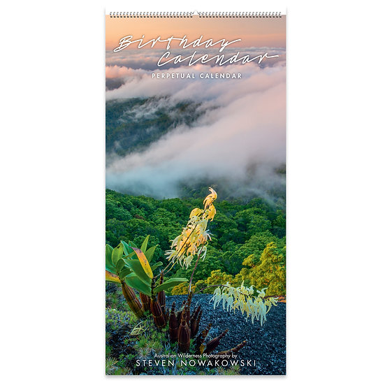 Birthday Slimline Calendar 2022 version (perpetual)