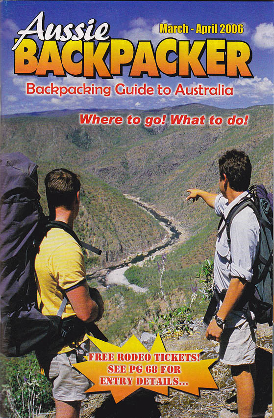 Aussie Backpacker front cover