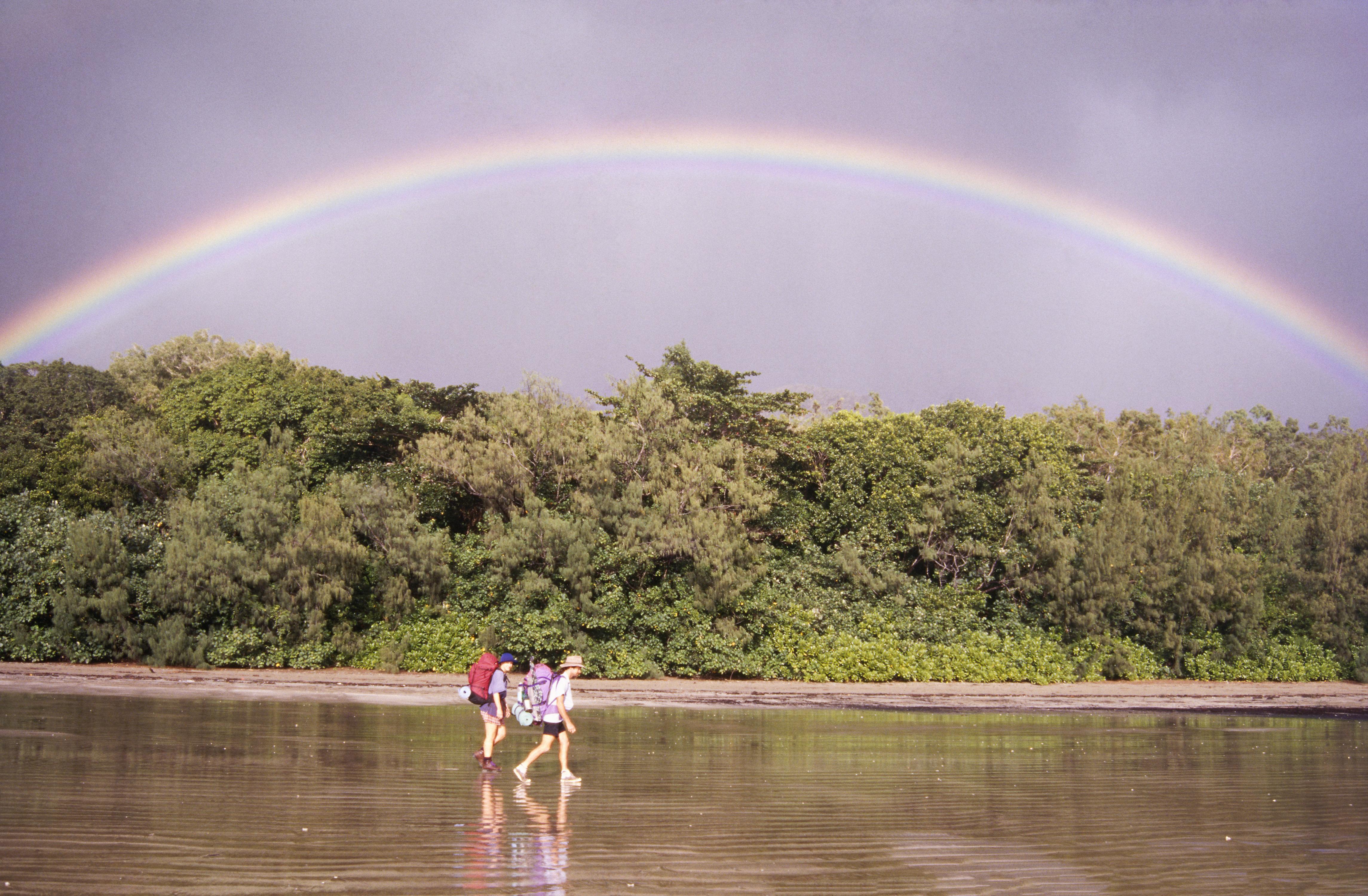 Rainbow over Zoe Bay