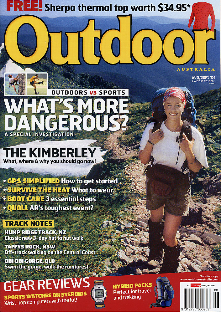 Outdoor magazine front cover