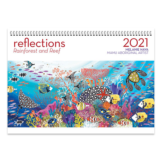 2021 Reflections – Rainforest and Reef by Melanie Hava Wall Calendar