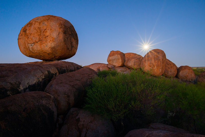 Prints | Outback | Rising moon, Marbles
