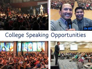 List of collegiate conferences seeking speakers with deadlines
