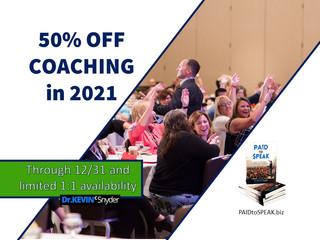 50% OFF 2021 PAID to $PEAK Coaching Programs through Dec 31