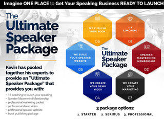 [Announcement] Ultimate Speaker Package with demo video, website, marketing, book publishing++
