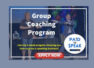 Group Speaker Coaching Programs beginning ...