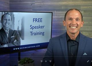 FREE Speaker Training this Friday