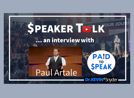 """$peaker Talk"" interview with Dr. Paul Artale, Accredited Speaker and Author"