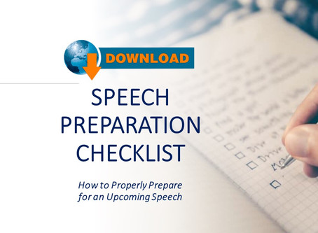 College vs Corporate: FREE DOWNLOAD of my Speech Preparation Checklist
