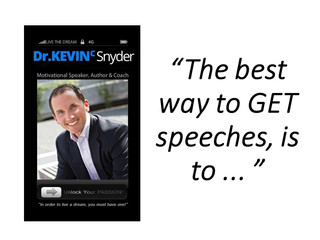 The best way to GET speeches, is to ... read this!
