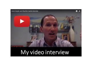 Being interviewed by Sharifa Hardie