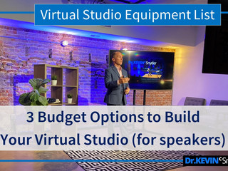 Equipment List and 3 Budget Options for Setting Up a Virtual Studio (for speakers)