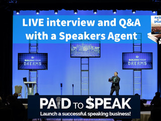LIVE interview and Q&A with a Speakers Agent
