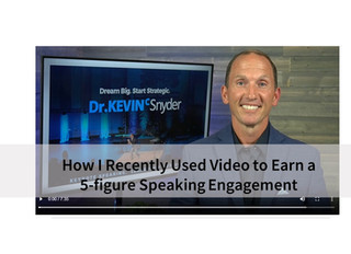 """""""Speaker Tip"""": How I Recently Used Video to Earn a 5-Figure Speaking Engagement"""