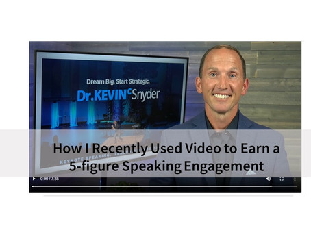 """Speaker Tip"": How I Recently Used Video to Earn a 5-Figure Speaking Engagement"