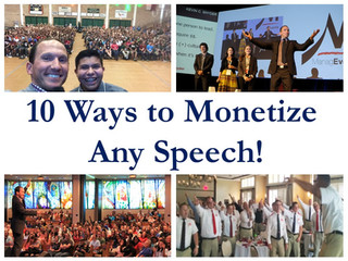 How to convert FREE speeches into a PAID speaking business