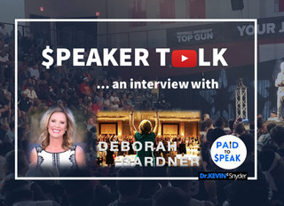 """""""$peaker Talk"""" interview with Deborah Gardner about the meeting and events industry"""