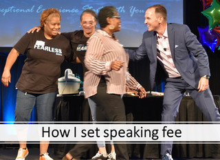 WHEN and HOW MUCH to charge for speaking?