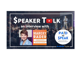 """""""$peaker Talk"""" interview with Marcey Rader 