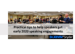 Ideas for immediate speaking leads early 2020