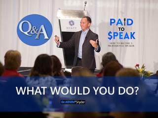 Speaker Tip Q&A: Kevin, what would you do?