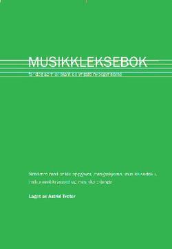 Den grønne musikklekseboken 1.