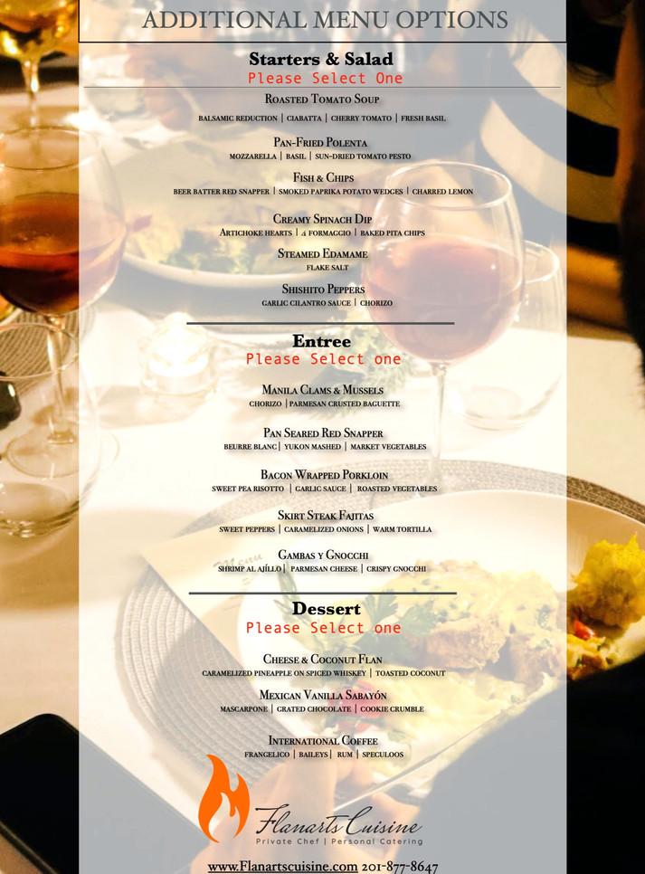 Additional menu options.