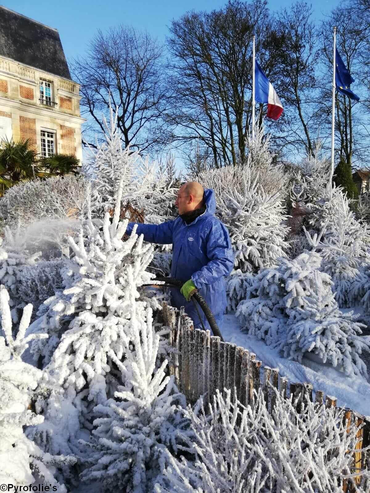 Flocage en cours décor neige artificielle Regular Snow