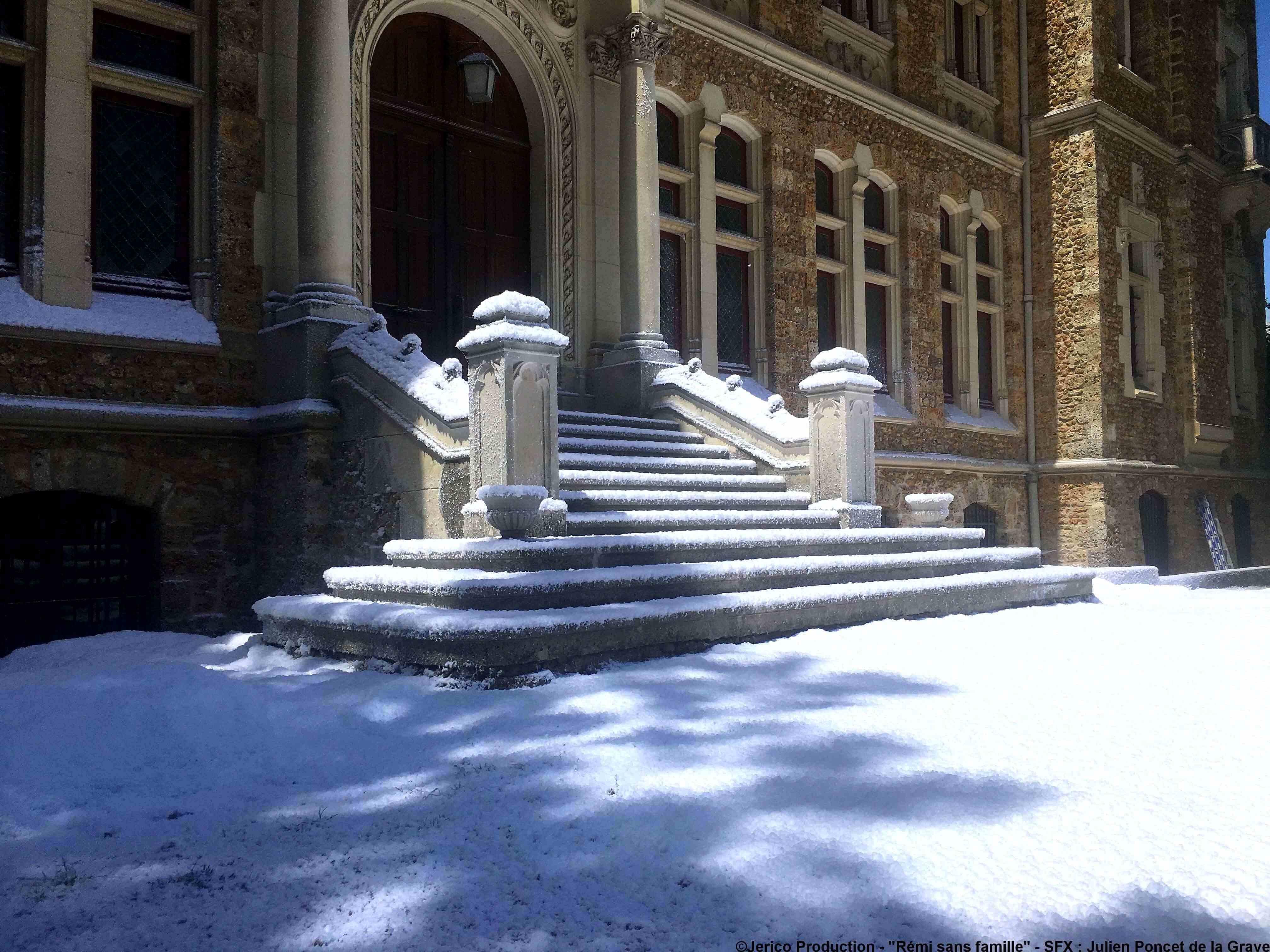 Décor Neige artificielle Regular Snow pour tournage long métrage