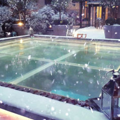 Val Monceau - Décor de neige artificielle au palace Le Royal Monceau® 2017