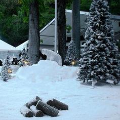 Décor neige artificielle Ile de la Réunion