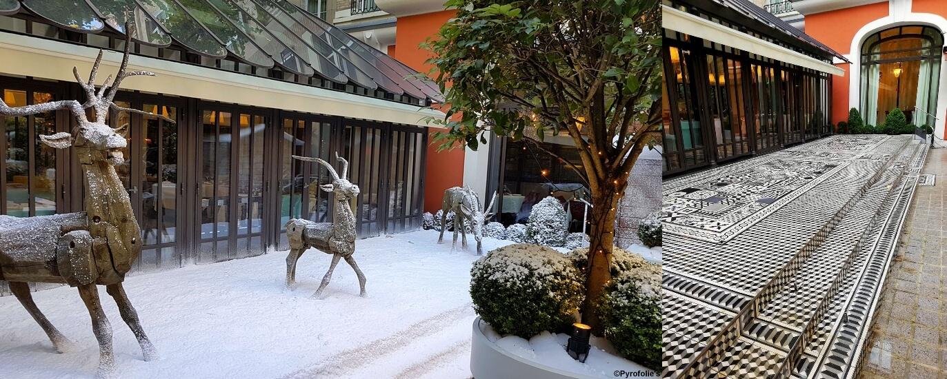 Décor Neige Végétation et Terrasse Regular Snow