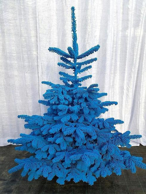 Sapin floqué couleur neige artificielle pour décor