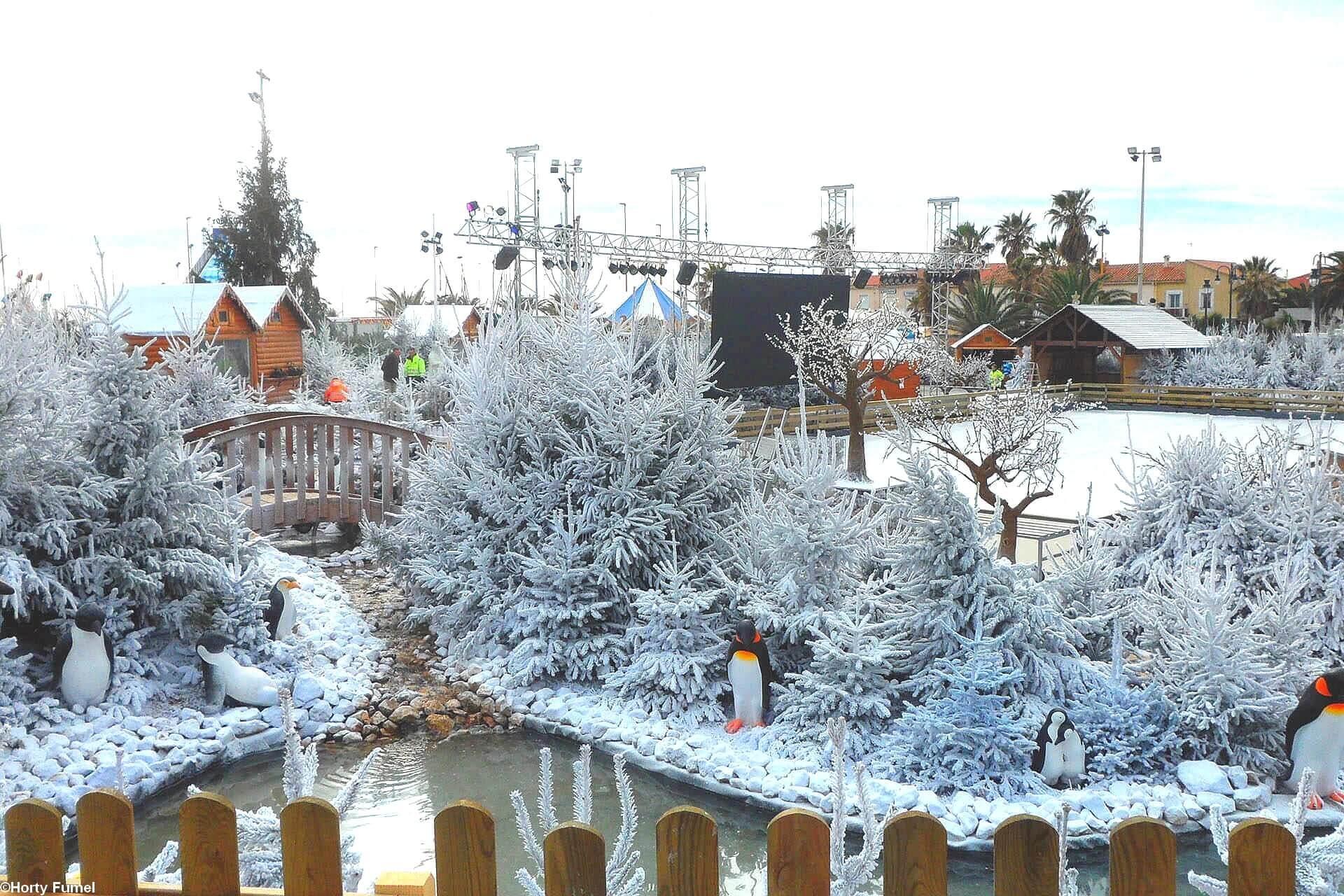 Marché de Noël décor neige artificielle Super White