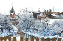 Décor marché de Noël neige artificielle Super White