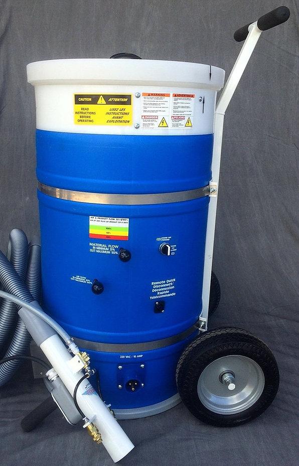 Machine à floquer neige artificielle cellulose pour décor