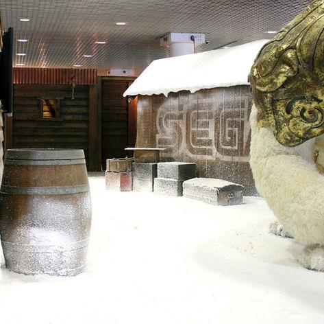 Decore de neige stand Sega®
