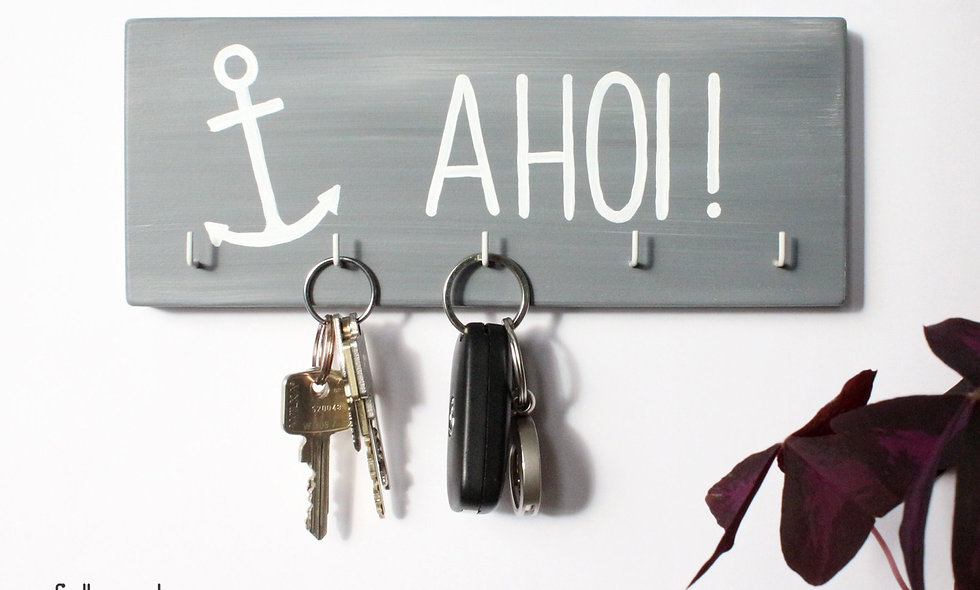 Schlüsselbrett Anker Ahoi